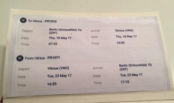 4) Berlin-Vilnus, Vilnus-Berlin RYAN Air Uçak Saatleri