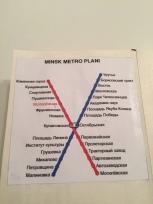 6) Minsk metro haritası