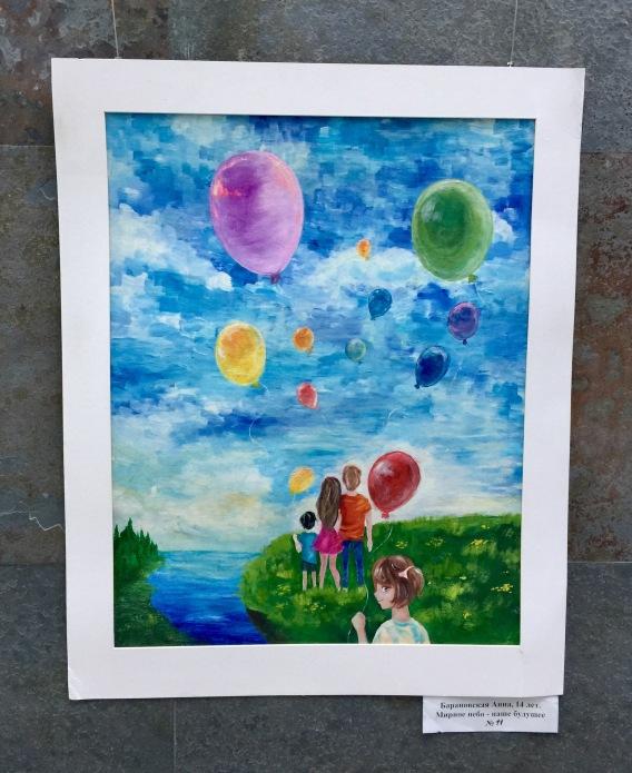 """Anna Boronovskaya-14 Yaş-""""Barış Dolu Gökyüzü, Geleceğimiz"""""""